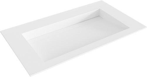 AVON Talc solid surface inbouw wastafel 80cm Positie wasbak midden