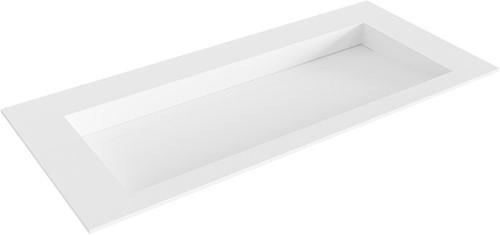 AVON Talc solid surface inbouw wastafel 100cm Positie wasbak midden