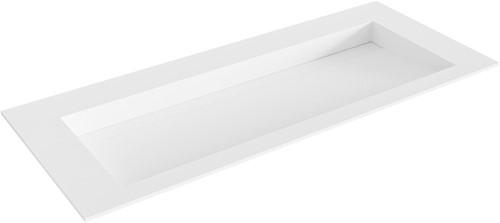 AVON Talc solid surface inbouw wastafel 111cm Positie wasbak midden