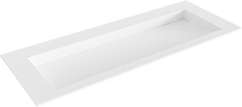 AVON Talc solid surface inbouw wastafel 120cm Positie wasbak midden