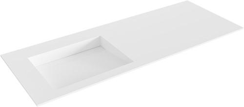 AVON Talc solid surface inbouw wastafel 120cm Positie wasbak links