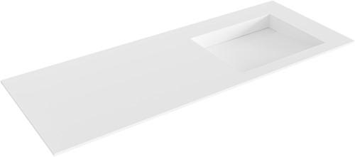 AVON Talc solid surface inbouw wastafel 120cm Positie wasbak rechts