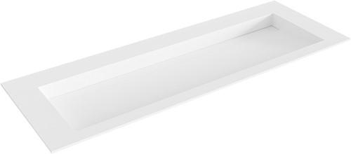 AVON Talc solid surface inbouw wastafel 130cm Positie wasbak midden