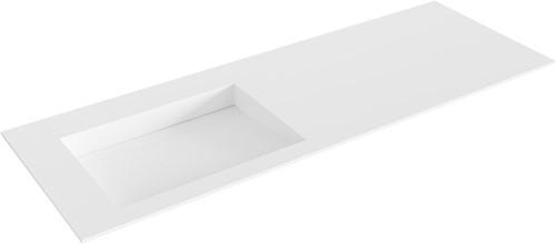 AVON Talc solid surface inbouw wastafel 131cm Positie wasbak links