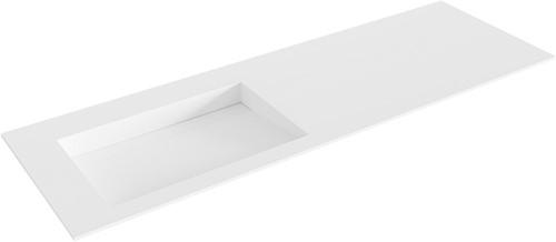 AVON Talc solid surface inbouw wastafel 141cm Positie wasbak links