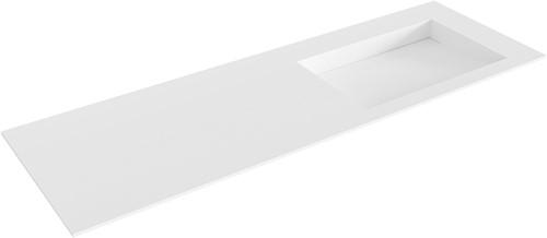 AVON Talc solid surface inbouw wastafel 140cm Positie wasbak rechts