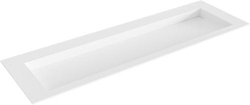 AVON Talc solid surface inbouw wastafel 150cm Positie wasbak midden