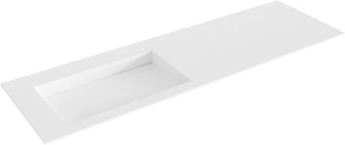 AVON Talc solid surface inbouw wastafel 151cm Positie wasbak links