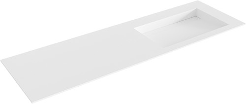 AVON Talc solid surface inbouw wastafel 151cm Positie wasbak rechts