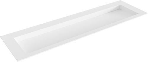 AVON Talc solid surface inbouw wastafel 160cm Positie wasbak midden