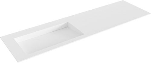 AVON Talc solid surface inbouw wastafel 160cm Positie wasbak links