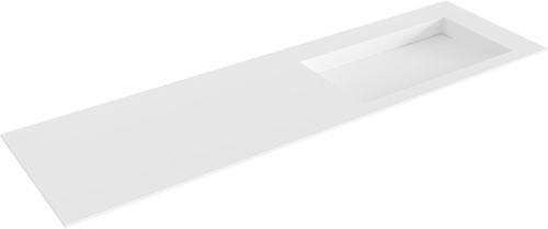 AVON Talc solid surface inbouw wastafel 160cm Positie wasbak rechts