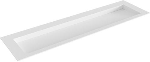 AVON Talc solid surface inbouw wastafel 170cm Positie wasbak midden