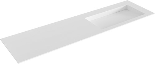 AVON Talc solid surface inbouw wastafel 170cm Positie wasbak rechts