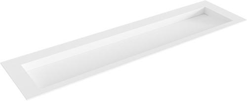 AVON Talc solid surface inbouw wastafel 180cm Positie wasbak midden