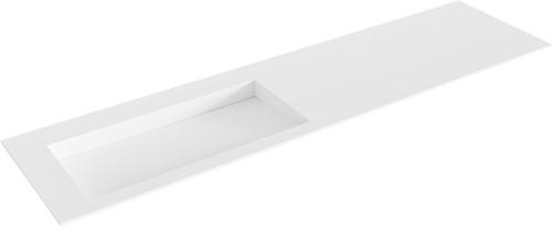 AVON Talc solid surface inbouw wastafel 180cm Positie wasbak links