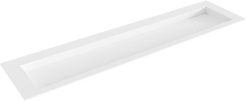 AVON Talc solid surface inbouw wastafel 190cm Positie wasbak midden