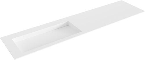 AVON Talc solid surface inbouw wastafel 190cm Positie wasbak links