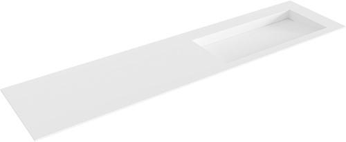 AVON Talc solid surface inbouw wastafel 190cm Positie wasbak rechts