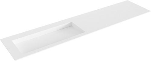AVON Talc solid surface inbouw wastafel 201cm Positie wasbak links