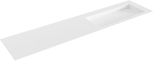 AVON Talc solid surface inbouw wastafel 201cm Positie wasbak rechts