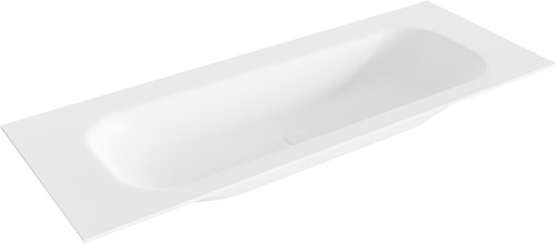 BIG medium Talc solid surface inbouw wastafel 120cm midden