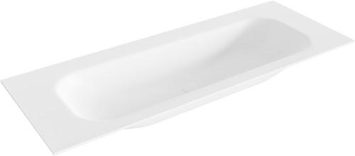 BIG medium Talc solid surface inbouw wastafel 121cm midden