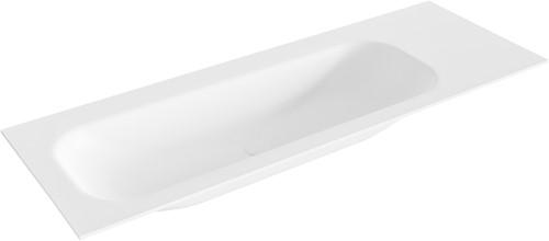 BIG medium Talc solid surface inbouw wastafel 130cm links