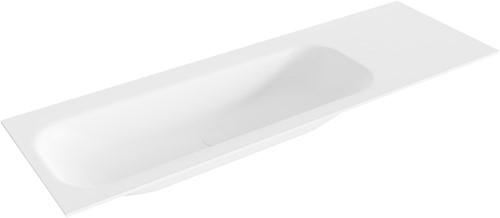 BIG medium Talc solid surface inbouw wastafel 140cm links