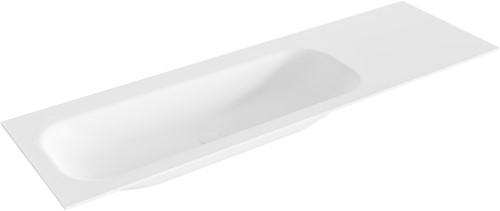 BIG medium Talc solid surface inbouw wastafel 150cm links