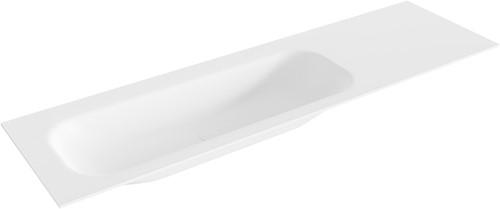 BIG medium Talc solid surface inbouw wastafel 160cm links