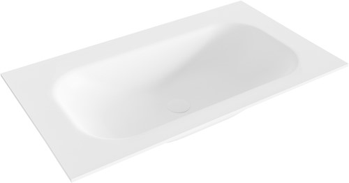 BIG small Talc solid surface inbouw wastafel 80cm midden
