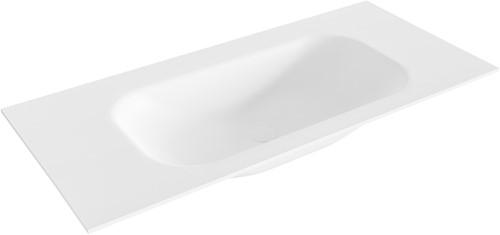 BIG small Talc solid surface inbouw wastafel 100cm midden
