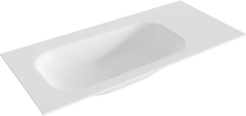 BIG small Talc solid surface inbouw wastafel 101cm links