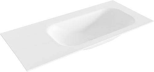 BIG small Talc solid surface inbouw wastafel 101cm rechts