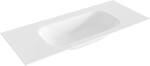 BIG small Talc solid surface inbouw wastafel 111cm midden