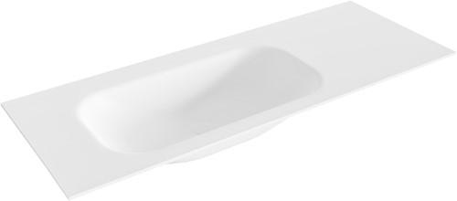 BIG small Talc solid surface inbouw wastafel 120cm links
