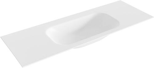BIG small Talc solid surface inbouw wastafel 131cm midden