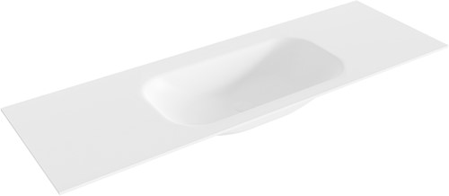 BIG small Talc solid surface inbouw wastafel 141cm midden