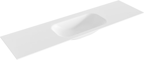 BIG small Talc solid surface inbouw wastafel 171cm midden