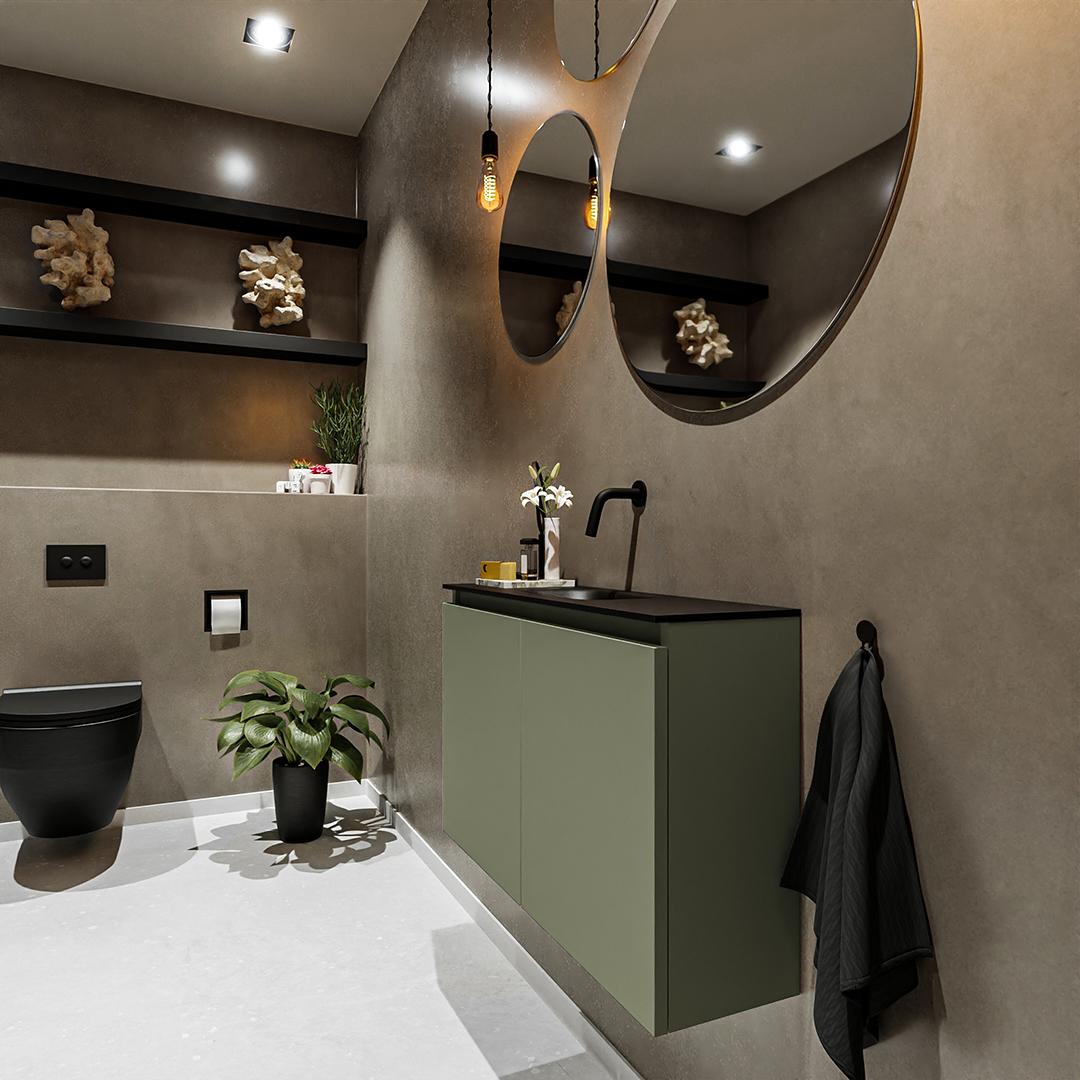 Moderniseer uw gastentoilet met de populaire toiletmeubel serie Ture. Dit toiletmeubel is maar 23 cm diep en beschikt over 1 of 2 deuren, is 50cm hoog en beschikbaar in de breedte van 40cm t/m 120cm. De Solid Surface inleg wastafel Eden is ook 23cm diep en in verschillende kleuren verkrijgbaar.