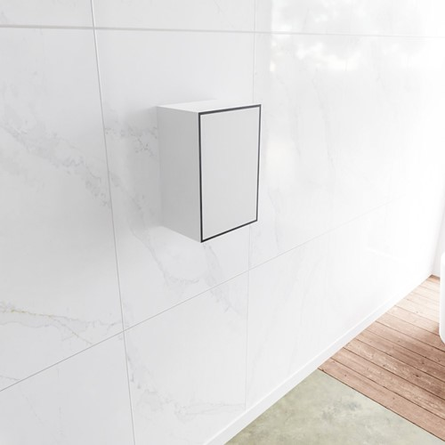 Lagom solid surface kolomkast 45 in kleur urban rechtsdraaiend.