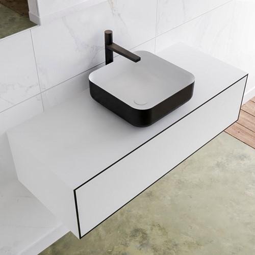 LAGOM 110 badmeubel solid surface urban 1 lades BINX midden 1 kraangat