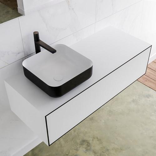 LAGOM 110 badmeubel solid surface urban 1 lades BINX links 1 kraangat