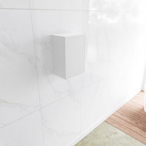 Lagom solid surface kolomkast 45 in kleur talc rechtsdraaiend.