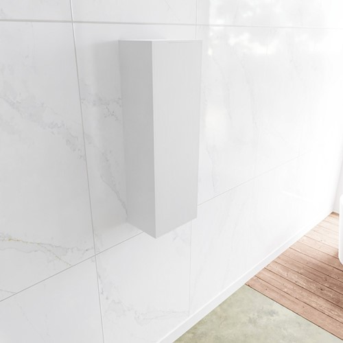 Lagom solid surface kolomkast 90 in kleur talc linksdraaiend