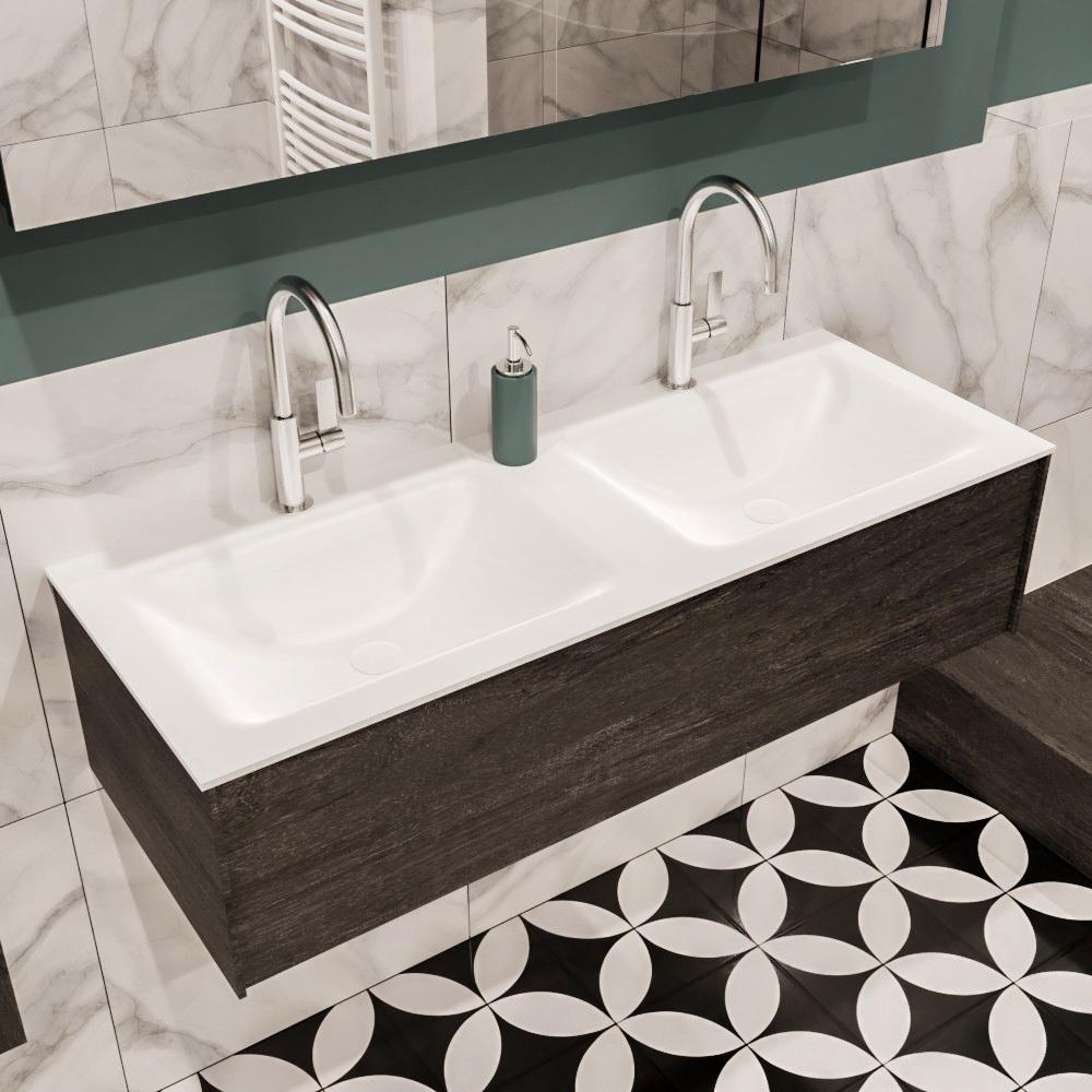 Lush badkamer meubel vrijhangende wastafel met badkamerkast