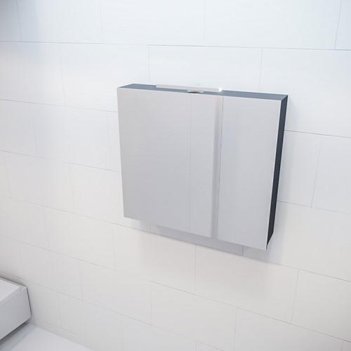 CUBB spiegelkast 80x70x16cm kleur dark grey met 2 deuren
