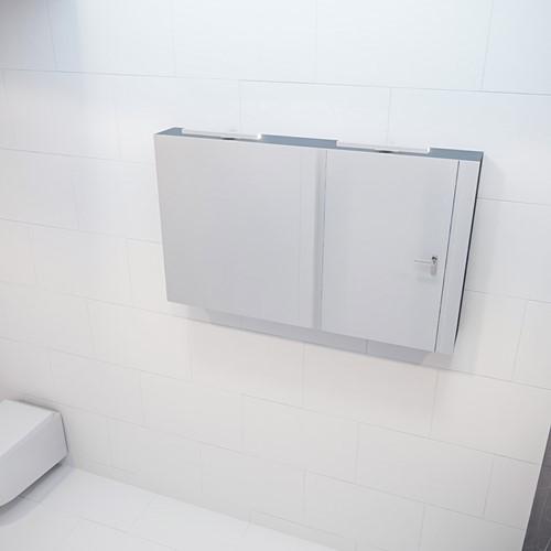 CUBB spiegelkast 120x70x16cm kleur dark grey met 2 deuren