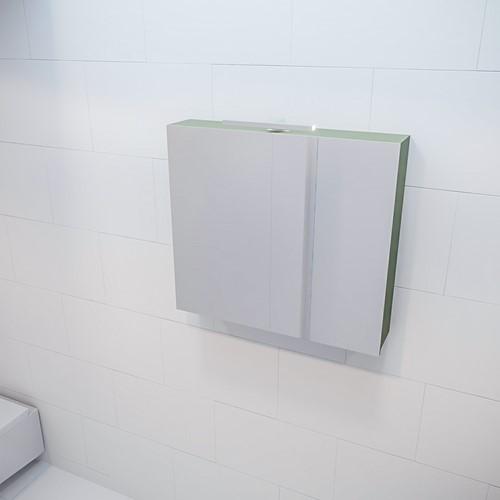 CUBB spiegelkast 80x70x16cm kleur army met 2 deuren